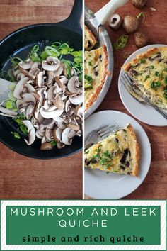 An easy quiche recipe stuffed with mushrooms and leeks. Make it in the cauliflower crust or use your favorite pie crust. Makes a great breakfast or dinner. Grab the recipe and make it today for a healthy meal your family will love. Cauliflower Crust, Cauliflower Recipes, Leek Quiche, Easy Quiche, Quiche Recipes, Stuffed Mushrooms, Healthy Recipes, Meals, Dinner