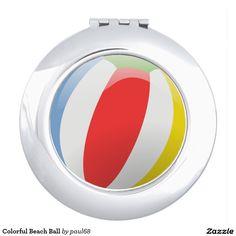 Colorful Beach Ball Travel Mirror