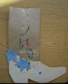 Simple cowboy craft for wild west or horse theme.