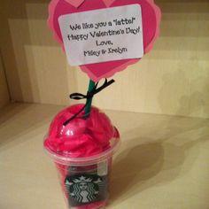 Valentine Teacher Gift Latte | Teacher Valentine- I like you a 'latte' | gifts