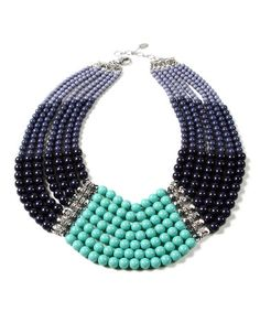 Love this Navy & Turquoise Crystal Proclamation Necklace on #zulily! #zulilyfinds