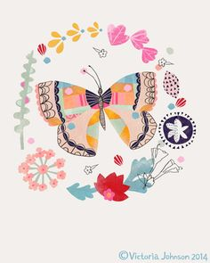 """Butterfly fabric collection """"Whisper"""" by Victoria Johnson for Windham Fabrics. DM451.jpg"""