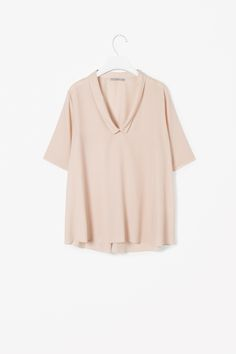 COS image 1 of Top with draped collar in Biscuit