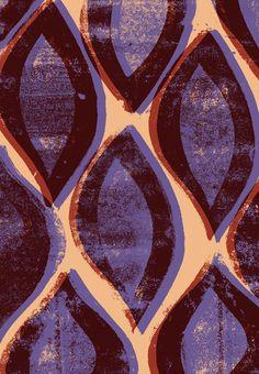 Press print and digital ogee pattern - Sarah Bagshaw