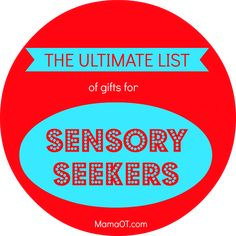 The ULTIMATE list of gifts for sensory seekers! #sensory #christmas #childdevelopment