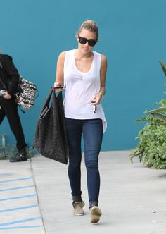 casual, tank and jeans