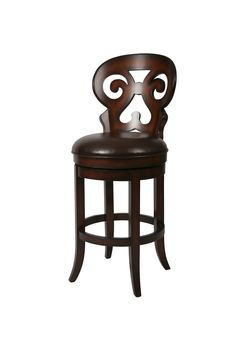 """Hermosa 30"""" Bar Stool in Russet Cordovan with Stallion Brown"""