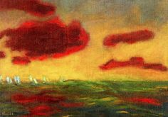 1949 Emile Nolde (German~Danish 1867~1956) | He was one of the first Expressionists, a member of Die Brücke.