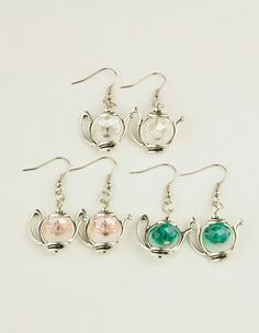 Fashion Tibetan Style Earrings, with Glass Beads and Brass Earring Hooks
