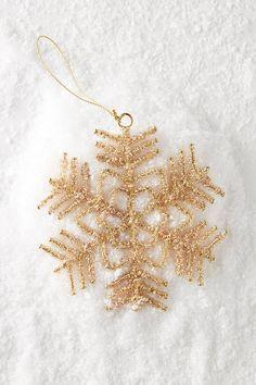 Anthropologie Aureate Snowflake Ornament