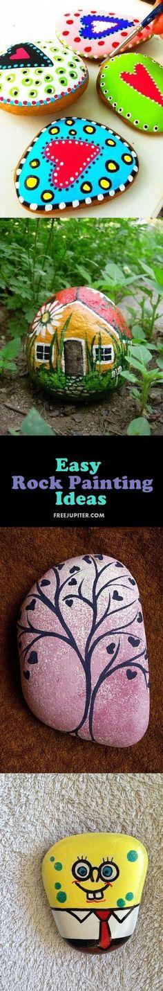 Inspiring DIY Painted Word Rocks Ideas