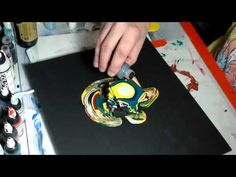 Fluid acrylic painting : Color blind - YouTube