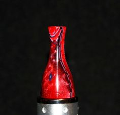 red black transparent handmade 510 drip tip Gallery Tips on FB and screamingfromthegallery.com
