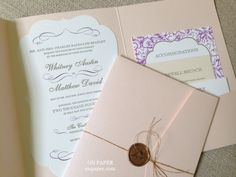 Such Incredible Details Ion This Folio Pocket Wedding Invitation! Available  At: On Paper   · Pocket Wedding InvitationsColumbus OhioWedding ...