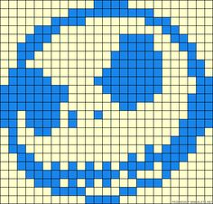 Jack Skellington perler bead pattern