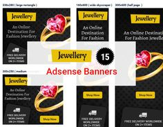 Jewelry Banner, Behance Net, Free Banner, Web Design, Graphic Design, Banner Design, Adobe Photoshop, Jewellery, Design Web