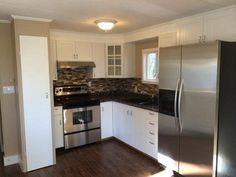 Mobile home small kitchen remodel ideas affordable single wide remodeling ideas mobile home living interior design home decor ideas Mobile Home Renovations, Mobile Home Makeovers, Remodeling Mobile Homes, Home Remodeling Diy, Basement Remodeling, Kitchen Remodeling, Basement Ideas, Mobile Home Living, Home And Living