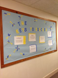 RA Bulletin Board! Keys to Success. Harry Potter theme.