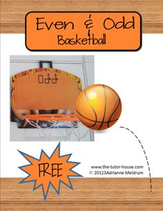 Free!  Get active with Even and Odd Basketball practice.