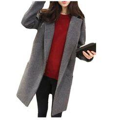 Women's winter long wool coat Korean Lapel Thicken Woolen Blazer Suit Outwear coats jackets