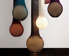 The Knitted iD Lights are a true combination of a traditional handcrafted design mixed with technology. The clever yet simple design makes these lamps easy to carry around. The bulbous shape draped in the knitted, colourful wool gives the light an organic look. A look and style that both grandmothers and design-obsessed young adults can appreciate.