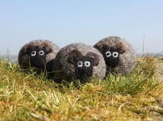 Wolle Trockner Kugeln, Pack 3 Hebridean Schafe gefilzt trockene Kugeln, wiederverwendbar, chemische kostenlosen Wäscheservice, natürlicher Weichspüler