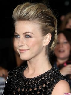 Julianne Hough faux hawk updo