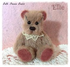 Ellie - Miniature Bear by Beth Franco Bears. She is 2.5 inches sitting.