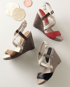 Chocolat Blu Sunny Wedge Sandals.. I got them in red. Thanks Baby!!!!