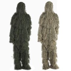 Pretend Play Toys - Leaf Camouflage Ghillie Suit Outdoor Hunting Birding Watching Photograph Clothing Breathable Jungle Clothes for Hunter Gift Hunting Suit, Hunting Camouflage, Hunting Clothes, Camouflage Clothing, Camouflage Jacket, Hunting Gear, Ghillie Suit, Hunting Supplies