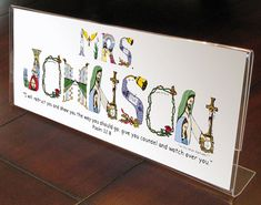 Christmas teacher gift using letters from The Christian Alphabet™ to create a unique, personalized teacher gift for all occasions. WHAT IS