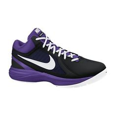 NIKE OVERPLAY VIII ΜΑΥΡΟ/ΜΩΒ Nike Free, Trainers, Sneakers Nike, Shoes, Fashion, Leotards, Leather, Nike Shoes, Nike Trainers