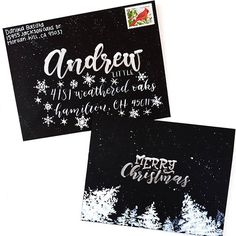 An extra special Christmas card  #charmingchristmaslettering @calligrabasics #cb_holidays  Thanks to @alissecourter for sharing this cause:  Andrew Little is a terminally ill 8 year old boy whose only wish is to receive Christmas cards. If you would like to send Andrew a Christmas card his address is: Andrew Little  4181 Weathered Oaks lane Hamilton,  OH 45011 And if you post your card please include this info so this sweet little boy can get tons and tons of cards! . . #snailmail…