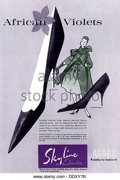 Clarks Shoe Stock Photos and Images. | Vintage Shoe Advert.