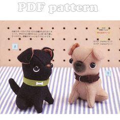 French Bulldog Puppy Plush Pattern PDF | CraftyLine e-pattern shop