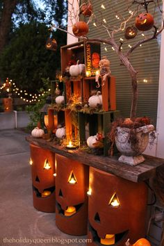 Home Depot Outdoor Pumpkin Luminaries
