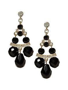 #BananaRepublic Deco black chandelier earring
