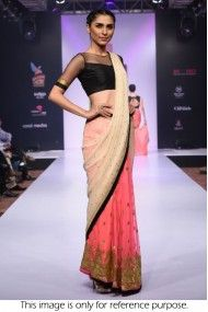 Bollywood Style Model Georgette Party Wear Saree in Pink and Off White Colour NC2531