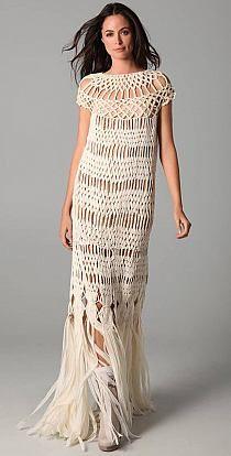 Macrame dress — designer unknown