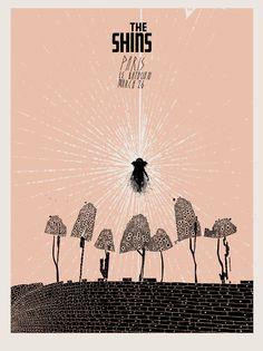 TheShins Paris concert poster by Jacob Escobedo