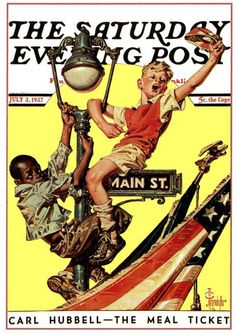 1937 Saturday Evening Post Fourth of July - cover art by J.C. Leyendecker