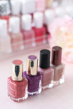 Some of my favourite current nail polishes from L'Oréal and Barry M. Photo from The Makeup Directory www.themakeupdirectory.co.uk