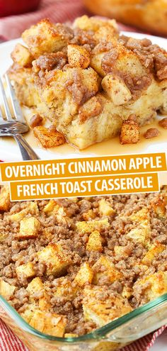 Overnight Cinnamon Apple Baked French Toast Casserole This. - Overnight Cinnamon Apple Baked French Toast Casserole This Overnight Cinnamon - Baked French Toast Casserole, Best Breakfast Casserole, Sweet Breakfast, Breakfast Dishes, Crockpot Breakfast Casserole Overnight, Crockpot French Toast, French Toast Caserole, Apple Breakfast, Fun Breakfast Ideas