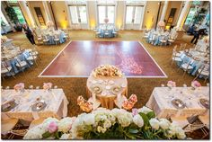Pink and blue wedding reception decoration | Event Planning, Styling & Design: Manna Sun Events | www.mannasunevents.com | Photo: Danny Dong Photography