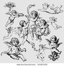 Resultado de imagem para vintage guardian angel black and white drawing