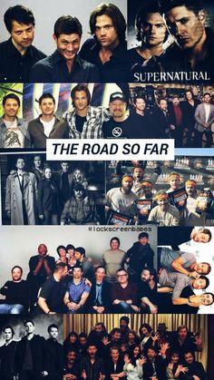 The road so far. Supernatural Fanfiction, Supernatural Bloopers, Supernatural Tumblr, Supernatural Tattoo, Supernatural Imagines, Dean Winchester, Winchester Brothers, Supernatural Wallpaper Iphone, Broadchurch