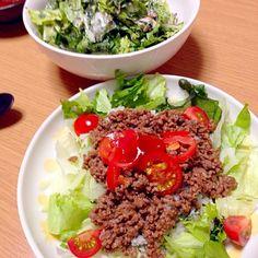 タコライス レタスと大葉のツナサラダ - 7件のもぐもぐ - タコライス by zodish