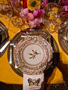de gournay handmade porcelain at their lenox hill gala table