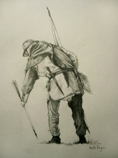 The website of Matthew Ryan, Historical Illustrator Medieval Archer, Medieval Art, Larp, English Longbow, Battle Of Agincourt, Archery Bows, Military Art, Middle Ages, History