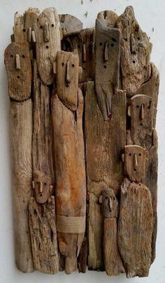 Fired Earth - lustik: Driftwood sculptures by Marc Bourlier. Driftwood Wall Art, Driftwood Projects, Driftwood Sculpture, Sculpture Art, Sculptures, Sculpture Ideas, Assemblage Art, Wooden Art, Recycled Art